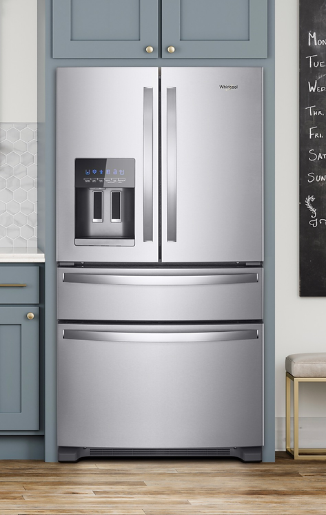 WHIRPOOL  36-Inch Wide French Door Refrigerator - 25 cu. ft.