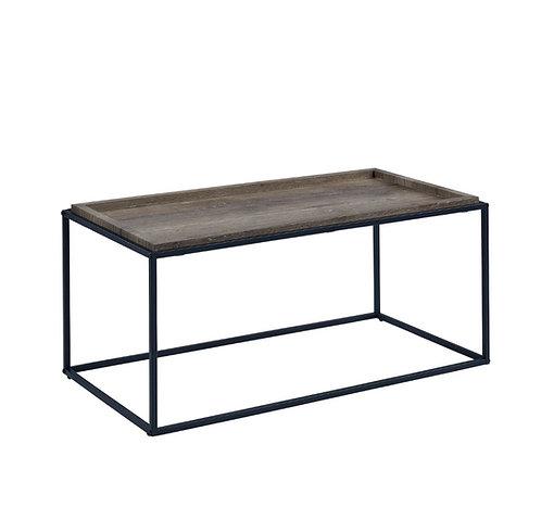 """Juliet"" Rectangle Coffee Table In Grey Top/Black Legs"