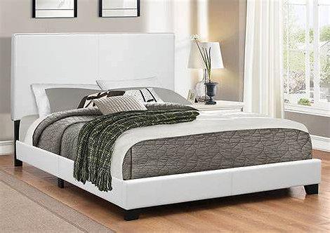 """BIANCA"" PLATFORM BED WHITE IN VARIOUS SIZES"