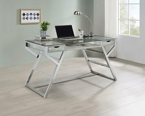 """""""Micky"""" Writing/Computer Desk In Weathered Grey Finish."""
