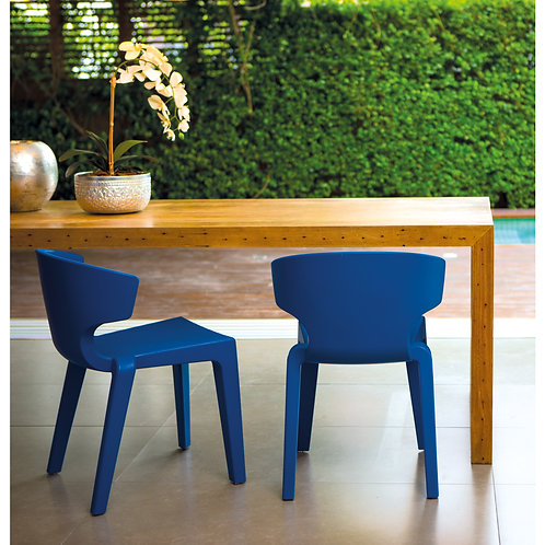 """""""MARILYN"""" SIDE CHAIR IN WHITE OR BLUE"""