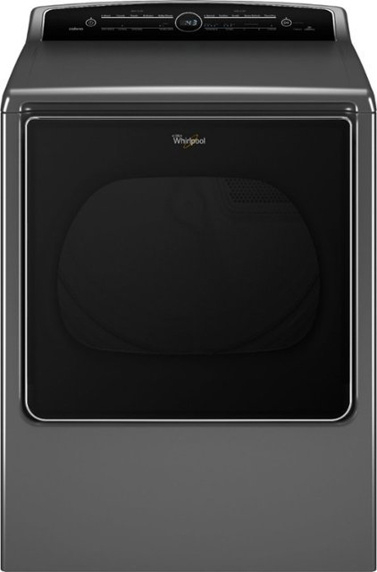 Whirlpool - Cabrio 8.8 Cu. Ft. 23-Cycle Steam Electric Dryer - Chrome Shadow