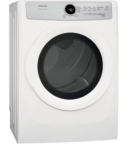 """""""Frigidaire"""" Front Load Electric Dryer 8.0 Cu Ft In White"""