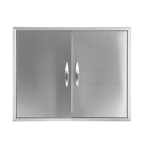 """Hgp Gallery Double Door 31"""" In Stainless Steel 304"""