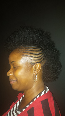 Natural Hair - Cornrow