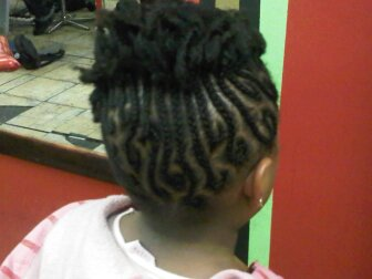 Cornrow and straw set