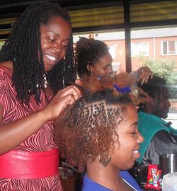 Salon work Start Shaya Locks