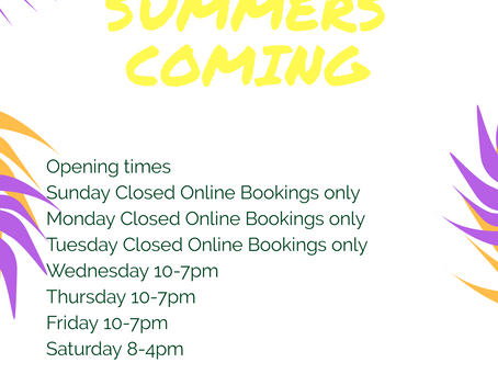 Check out our opening times