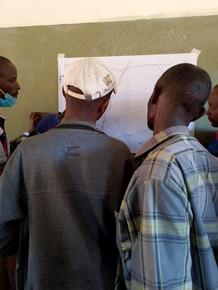 leparua elders sketching their lands resources