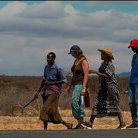 Volunteers contributing to the Camel Caravan
