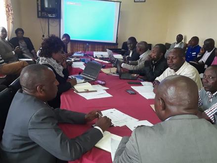 Meeting with Samburu County steering group