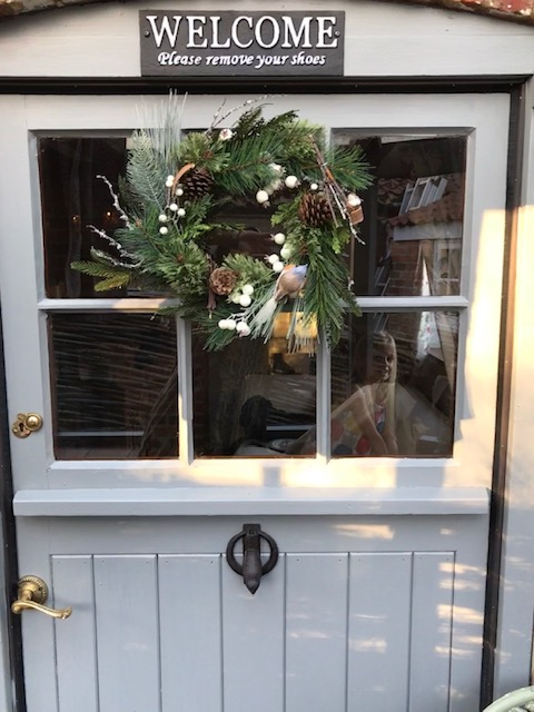 Stable door with Xmas Wreath