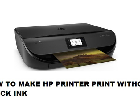 HOW TO MAKE HP PRINTER PRINT WITHOUT BLACK INK