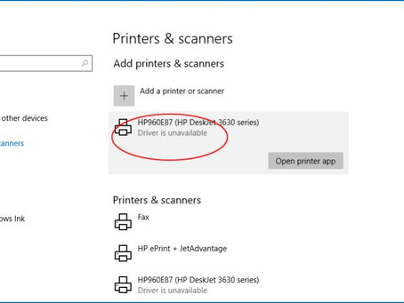 HP Printer Driver is Unavailable on Windows