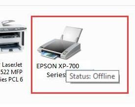 EPSON PRINTER OFFLINE IN WINDOWS