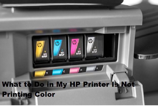 HP Printer Color Not Printing