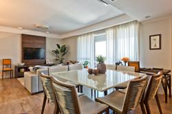 Sala de jantar com estar social