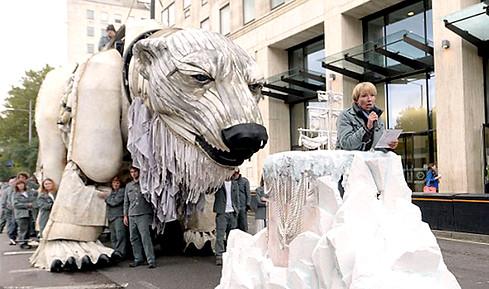Greenpeace save the arctic//prop maker