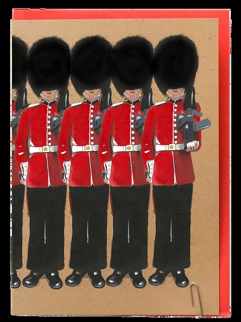 London guard greeting card