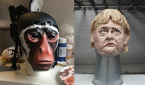 Greenpeace masks//maker and painter
