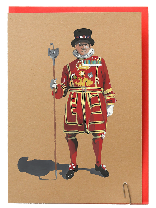 Beefeater greeting card