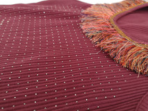 Borchia termoadesiva e passamaneria frange cucita  Hot fix studs and trimmings with fringes for sewing