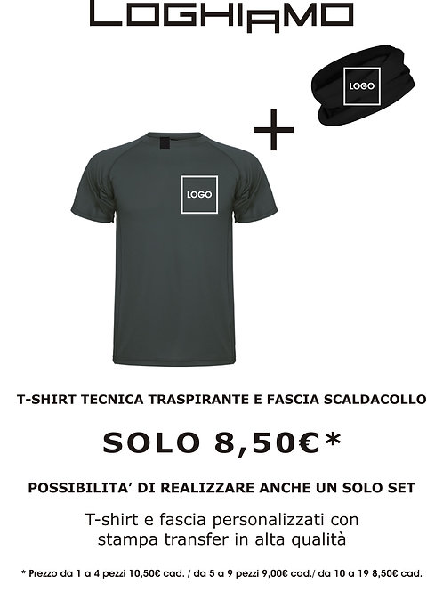 T-Shirt Tecnica + Scaldacollo 10-19pz.