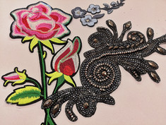 Patch termoadesivi in strass e ricamati  Hot fix patch with stones or embroidery