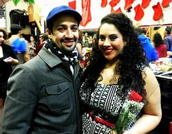 With Lin Manuel Miranda at WBT