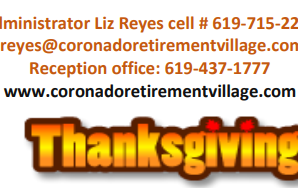 We Are Thankful to Our Residents, Families, Staff, and Essential Health Service Providers