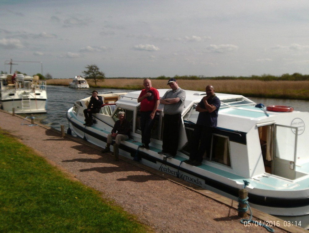 Redbridge 18 Plus members on a boat in Norfolk