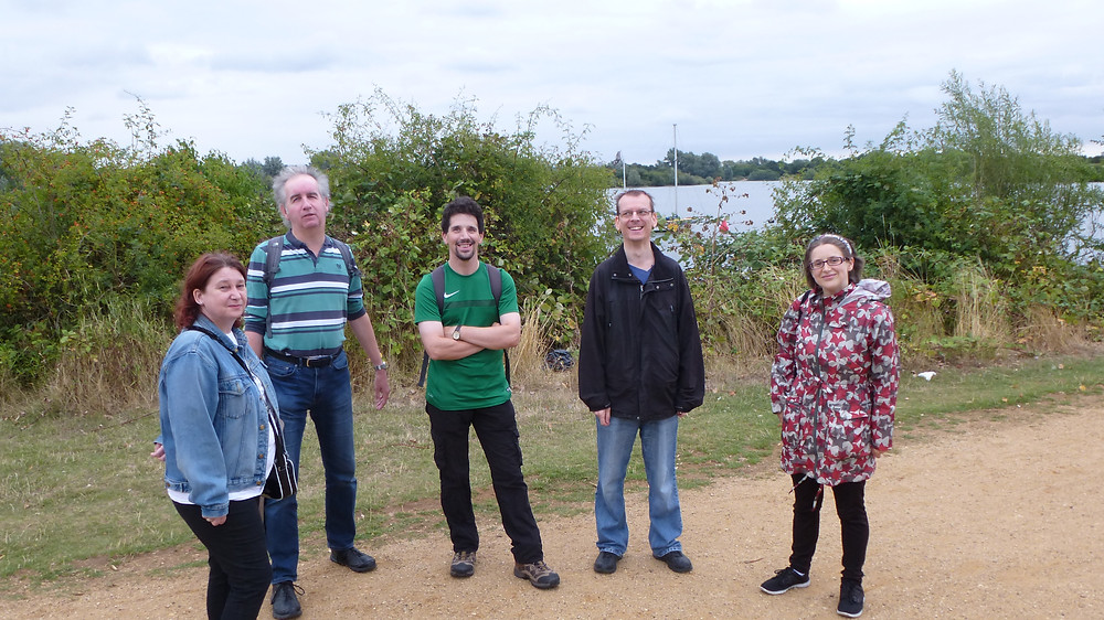Members of Redbridge 18 Plus visit Fairlop Waters.