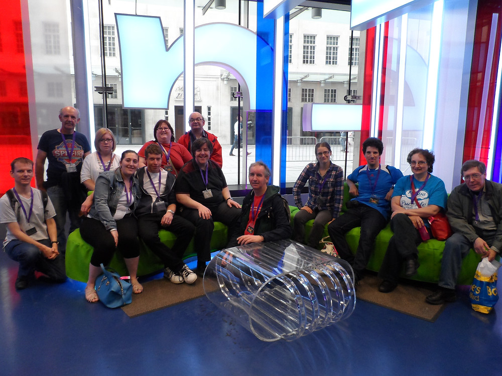 • Members of Redbridge 18 Plus at the BBC's One Show studios