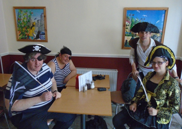 Its a pirate life for me: Adult social group dress up for themed day trip. Picture Redbridge 18 Plus