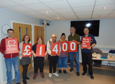 Redbridge social group raises more than £1,000 for British Heart Foundation