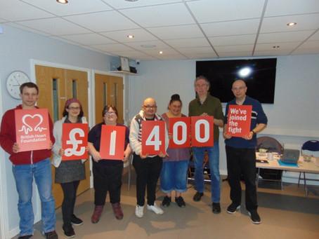 Redbridge social group raises more than £1,000 for British Heart Foundation