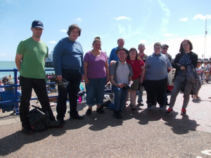 The group enjoyed a day by the sea