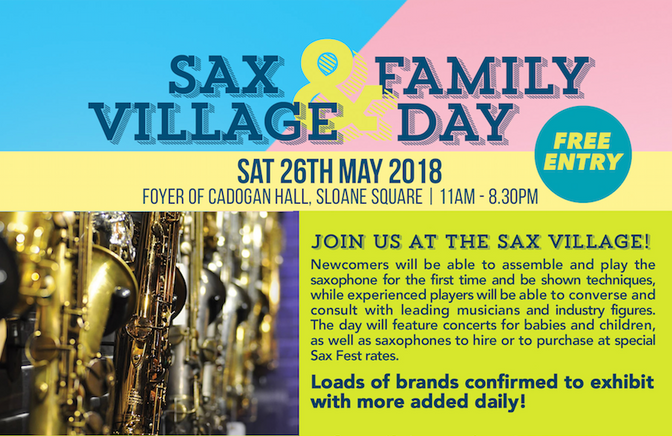 Register to attend the Free Sax Village and Family Day
