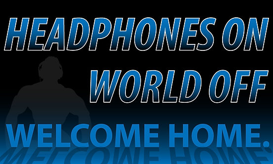Headphones On...World Off - 3'x5'