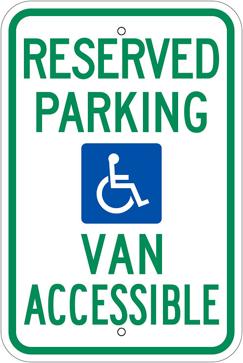 Reserved Parking - Van Accessible
