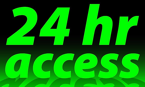 24 hr access - 3'x5'