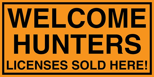 Welcome Hunters Banner