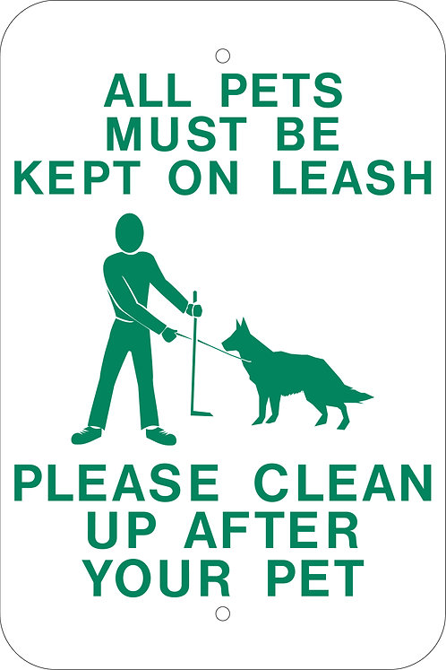 Pets on a leash