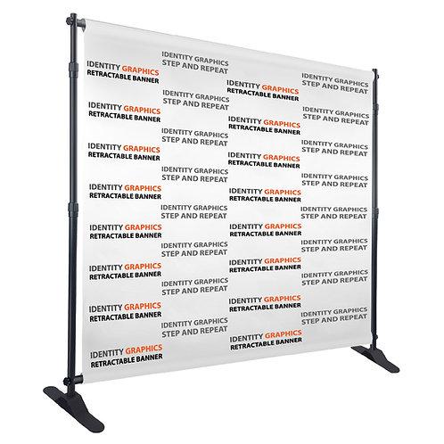 8' x 8' back drop banner w/frame