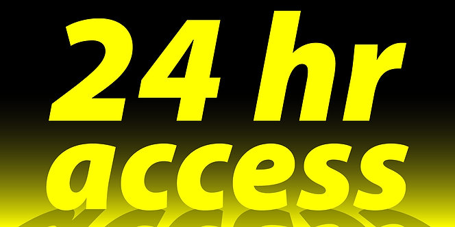 24 hr access - 4'x8'