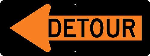 Detour Arrow Left