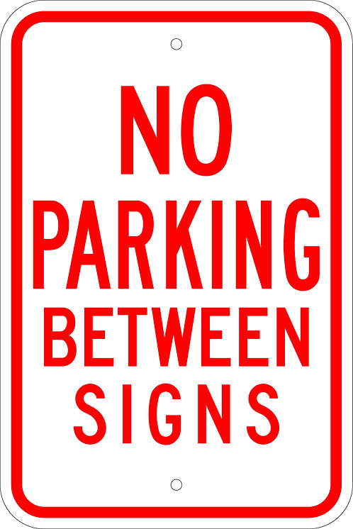 No Parking Between Signs