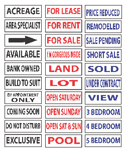 "CUSTOM Realtor Rider Signs - 24"" x 6"""