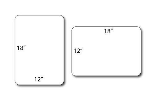 "CUSTOM Aluminum (non-reflective) Signs - 12"" x 18"""
