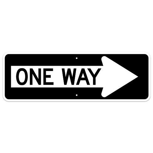 One Way - Arrow Right